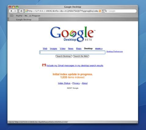 Google Desktop for the Mac in 2600+ Words :: andrewembler com